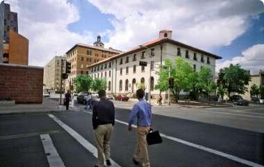 People walking through downtown Albuquerque