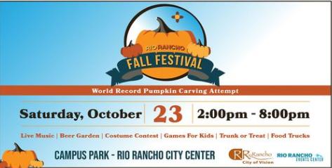 Rio Rancho Fall Festival flyer
